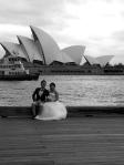 161014, Unknown bridal models, Sydney Harbour